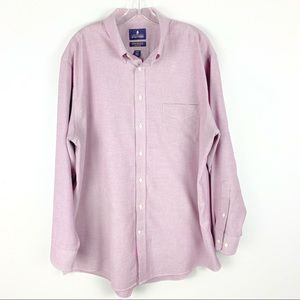 Stafford Men's Lilac Wrinkle Free Oxford Button Up